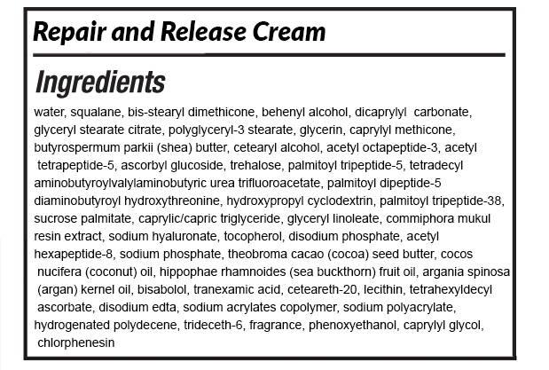 South Beach Skin Lab Repair & Release Cream ingredients