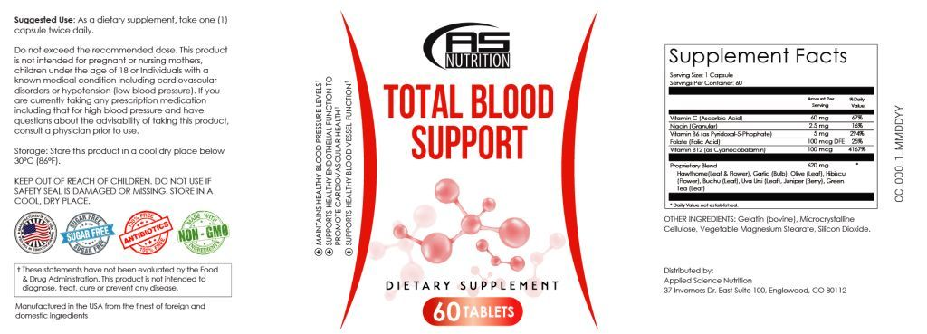 Total Blood Support Supplement Facts