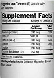 CinnaChroma Supplement Facts