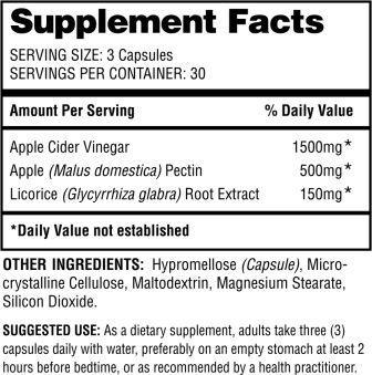 LeanACV Supplement Facts