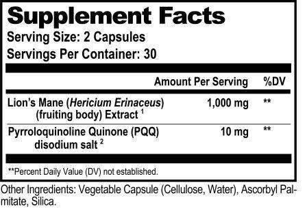 Mycomind Ingredients