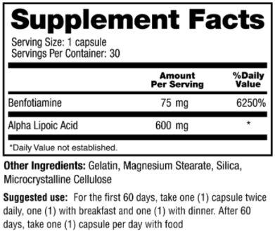 Nervala Supplement facts