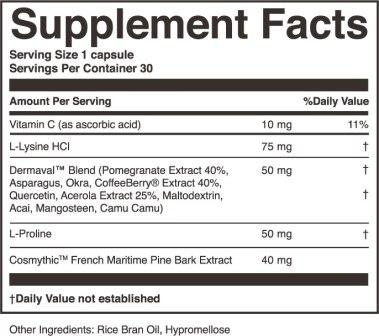 ActivatedYou Essential Skin Food Supplyment Facts