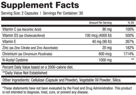 Immune Hero ingredients