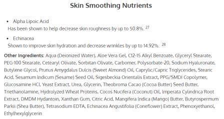 Lumiace Ingredients