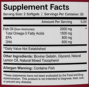 Essential Elements Omega-3 Fish Oil ingredients