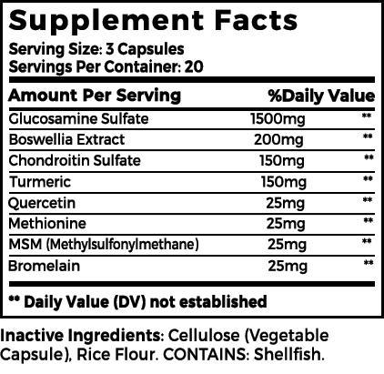Maximum Flex Ingredients