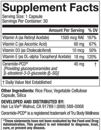 PhytoCera ingredients