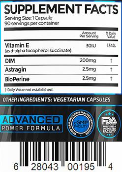 DIM 3X Ingredients