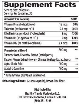 Nerve Rejuv Ingredients