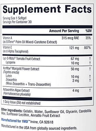 VisionMD ingredients